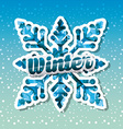 hello winter design vector image