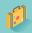 isometric luggage symbol of flat color icon with vector image