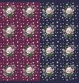 set of seamless flower pattern vector image