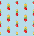 sweet bell pepper seamless pattern vector image