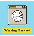 The flat icon of washing machine silhouette on the vector image