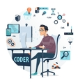 Coding Round Composition vector image