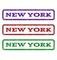 new york watermark stamp vector image