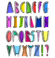 artistic alphabet vector image
