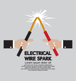 Electrical Wire Spark vector image