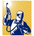 welder fabricator welding equipment vector image