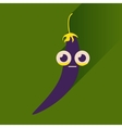 flat icons with long shadow chilli pepper vector image