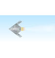 Military drone flying over sky background vector image