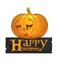 inscription congratulation with Happy Halloween vector image