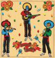 mariachi band vector image