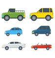 Passenger Cars Cartoon Models Collection vector image