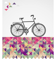 Retro hipsters bicycle geometric elements vector image