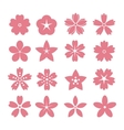 Set flower icons vector image
