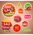 Set of sale labels and stickers discount shopping vector image