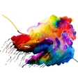 watercolor colorful cloud vector image