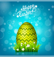 easter egg hunt blue background april holidays vector image