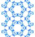 blue round kaleidoscopic pattern vector image