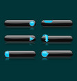 black buttons with blue signs menu interface vector image