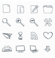 browser sketch icons vector image