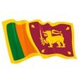 political waving flag of sri lanka vector image
