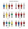 Football championship National team players vector image