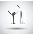 Coctail glasses icon vector image