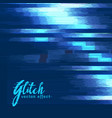 digital glitch effect background vector image