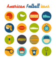 flat design icons of american football vector image