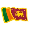 political waving flag of sri lanka vector image