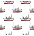 seamless pattern water transpor kids toy vector image