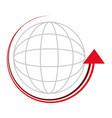 sphere with arrow around vector image