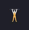 Strongman computer symbol vector image