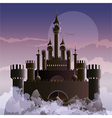 The dark castle vector image