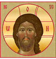 Vintage icon of Jesus vector image