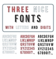 Hand Drawn Font Set Handwriting Alphabet ABC with vector image