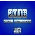 2016 New Year white blue card odometer vector image