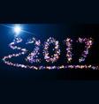 2017 new year luminous background vector image