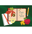 Back to school Organizer and autumn leaves vector image vector image