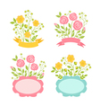 Floral romantic frames set vector