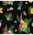 Flower pattern tablecloth background vector image