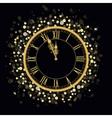 Golden New Year Clock vector image