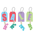 Sale coupon vector image vector image