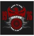 American Eagle Motorcycle Club Emblem vector image