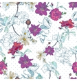 Beautiful Seamless Vintage Floral Background vector image