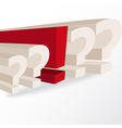 business decision conceptual with question marks a vector image