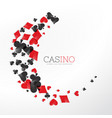 casino playing card elements in wave style vector image