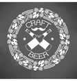 Craft beer logo vector image