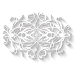 Elegant paper retro floral wreath Hand drawn vector image