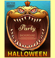halloween poster comic pumpkin vector image