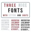 Hand Drawn Font Set Handwriting Alphabet ABC with vector image